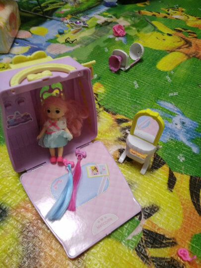 mimiworld 韩国玩具 迷你美发手提包 儿童过家家场景套装 小女孩生日礼物 美美玩具 4-6岁 娃娃提包屋 晒单图