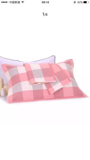 永亮 枕巾纯棉一对 枕头巾2条装 大格子款红色 晒单图