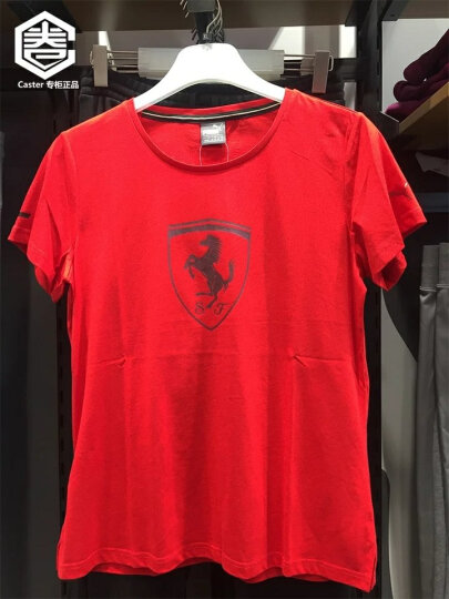 彪马(PUMA) 女子圆领短袖T恤 Scuderia Ferrari 573016 赛车红02 M 晒单图