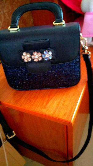 欧时纳(JUST STAR)女包包韩版时尚斜挎包亮片单肩包个性手提包小方包 760灵动蓝 晒单图