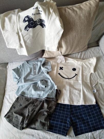 南极人(Nanjiren) 南极人男童卫衣外出服上衣春秋季新款圆领打底衫外出服T恤 剪纸小马-白色 110CM 晒单图