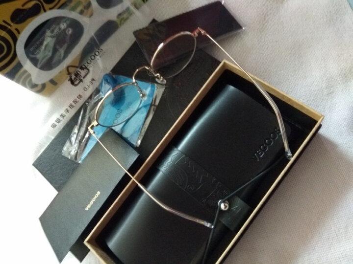 威古氏(VEGOOS)防辐射眼镜男女款防蓝光电脑护目镜文艺复古眼镜框近视眼镜 粉框银脚 【可配镜】 晒单图