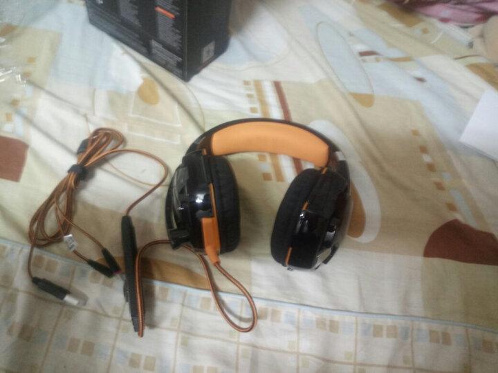 因卓(KOTION EACH)G2000黑蓝 耳机头戴式吃鸡立体声线控带麦USB台式重低音电竞电脑耳机 炫光语音游戏耳机 晒单图