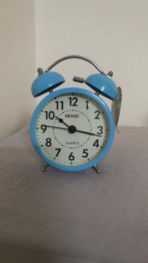汉时(Hense) 时尚创意打铃闹钟学生静音床头钟儿童卡通闹表简约懒人小时钟HA01 黑色3英寸 3英寸 晒单图