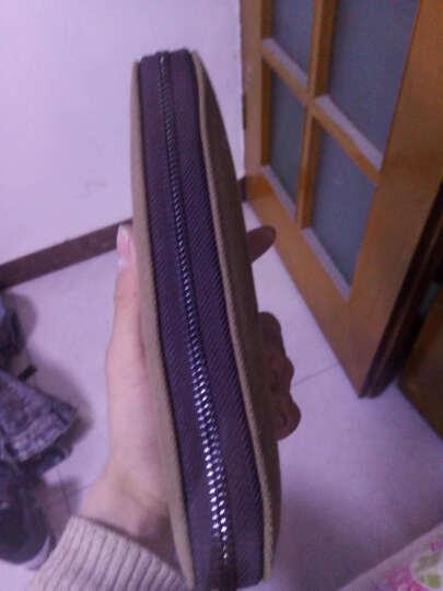 布维斯BUWEISI男士帆布钱包长款韩版时尚手拿包多功能卡包学生钱夹包包 军咖色 晒单图