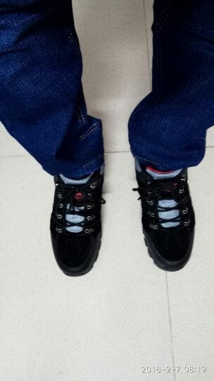 简鳄休闲鞋男户外运动鞋2017秋季新款旅游鞋登山鞋 灰宝蓝1819 42码标准运动鞋码 晒单图