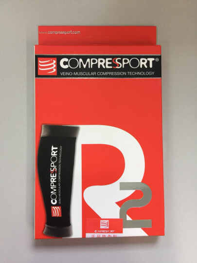 COMPRESSPORT 瑞士compressport r2运动压缩腿套小腿套护腿套 冰蓝 T1腿围30-34 晒单图