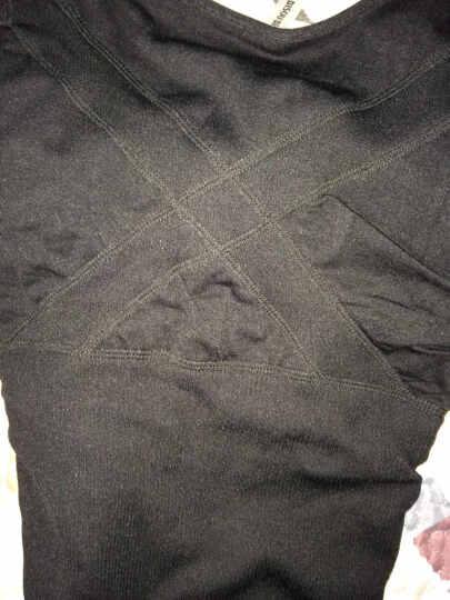 比瘦 保暖内衣 女 加绒加厚U领 长袖托胸收腹塑身美体上衣 黑色 均码 晒单图