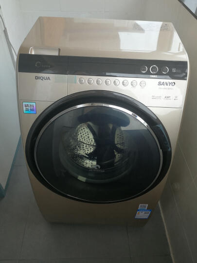 三洋(SANYO)DG-L90588BHC  9公斤全自动变频烘干一体斜式滚筒洗衣机空气洗杀菌除螨 晒单图