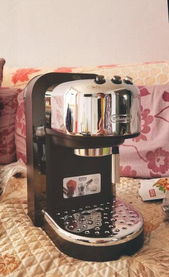 德龙(Delonghi)咖啡机 半自动咖啡机 家用 商用 办公室 泵压式 不锈钢 一键卡布奇诺 自动打奶泡 EC850.M 晒单图