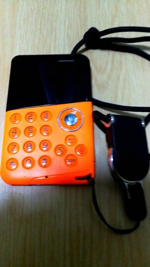 Zenus 卡片手机超薄按键迷你手机超小 儿童男女学生款袖珍反智能卡片机手机 橙色M8 晒单图