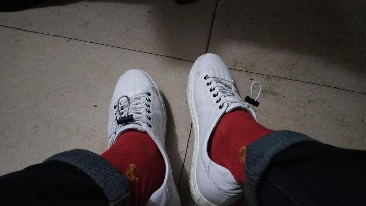 Montagut/梦特娇春新款男鞋圆头橡胶底粒面皮休闲皮鞋8729 白色 42 晒单图