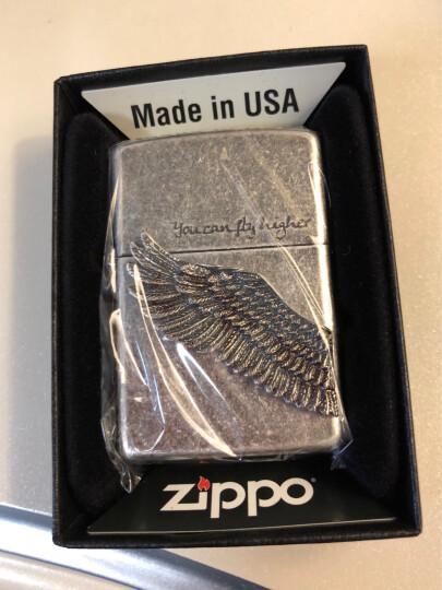之宝(Zippo) 防风打火机 四叶花翅膀-白金 镜面蚀刻镜面填充 徽章 ZBT-2-19b 晒单图