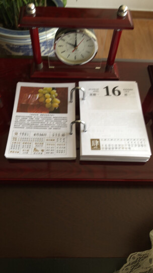 信发(TRNFA) 信发 2018年大老板台历芯 7.5孔距记事日历架替换纸质商务办公 健康生活 一天一页 晒单图