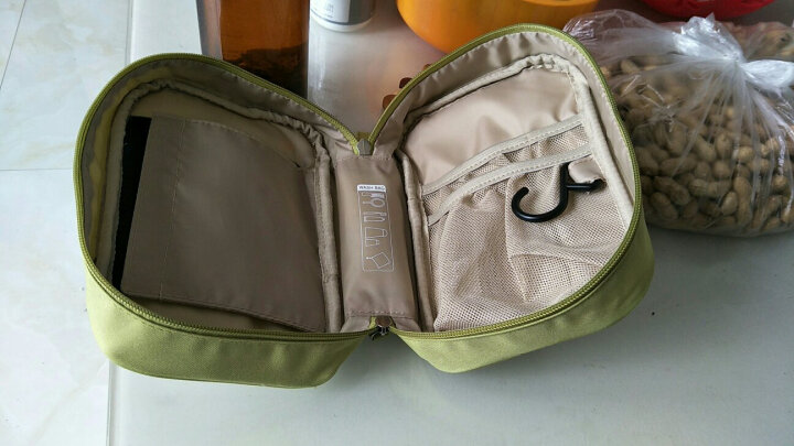 文艺青年 旅行套装便携包洗漱包洗刷包 男士女出差洗浴包折叠化妆包 便携户外旅行包收纳包 文艺绿 晒单图
