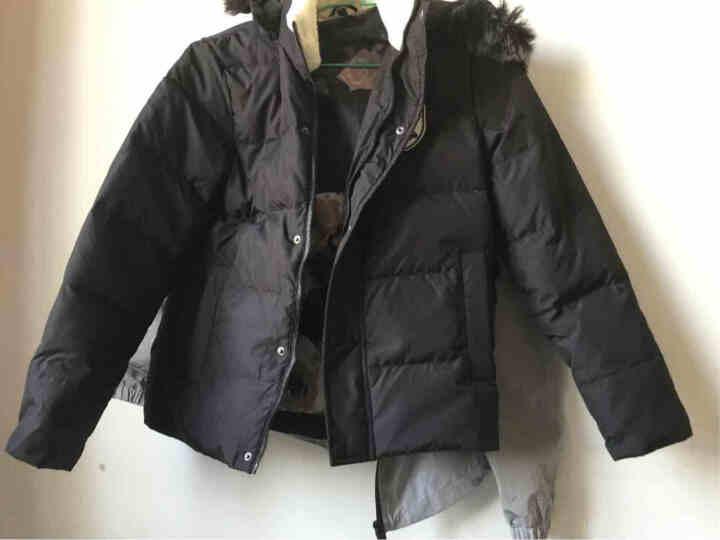 富贵鸟羽绒服男士秋冬新款轻薄韩版修身保暖外套 17002FG1699黑色 M 晒单图