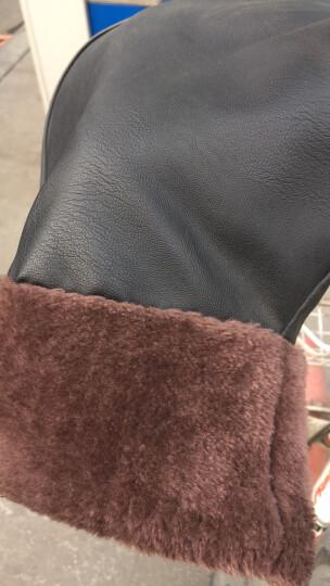 电瓶车手套摩托车冬季保暖男女式电动车手套自行车保暖冬天加绒手把套防风防寒不漏水通用 深邃黑中号 晒单图
