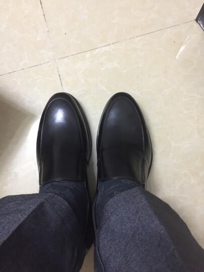 Belle/百丽男鞋牛皮低帮套脚商务正装皮鞋男86608CM6 棕色 40 晒单图