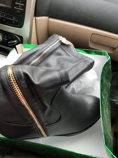 仙宝蝶(xianbaodie) 秋冬新款弹力过膝长靴隐形内增高厚底高筒靴女靴子松糕女鞋子 黑色DH8110 37 晒单图