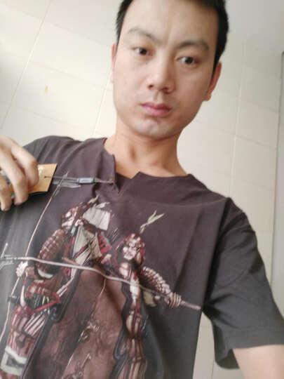 龙牙(Dragon Tooth) 龙牙古典军事文化衫木扣版男版透气修身短袖T恤Ⅱ铁血君品 深炭灰胡服骑射 XS 晒单图