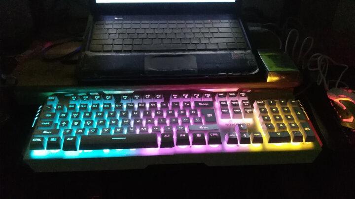银雕(YINDIAO) 牧马人真机械手感键盘鼠标耳机三件套装电脑有线游戏吃鸡背光键鼠外设 白色(彩虹背光)键盘+游戏鼠标+发光游戏耳机 晒单图