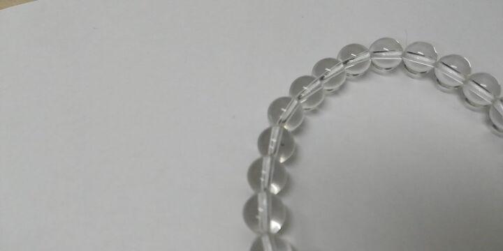 石传百世 6A级天然白水晶手链 送礼优选 晶体透彻 附证书 礼物 珠径7毫米108颗佛珠手链适合男士带四圈 晒单图