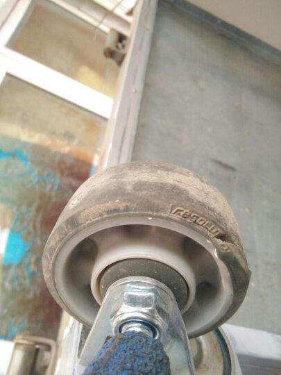 台湾得貹工业脚轮3寸万向固定向轮全双刹车活动轮组静音高弹性防穿刺轮75X31mm载重110 3寸双刹轮 晒单图