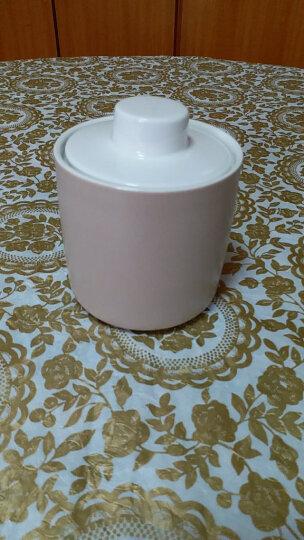 川岛屋 北欧简约冷色陶瓷木柄马克杯茶壶小资情调咖啡杯碟B-94 9cm糖罐米色 晒单图