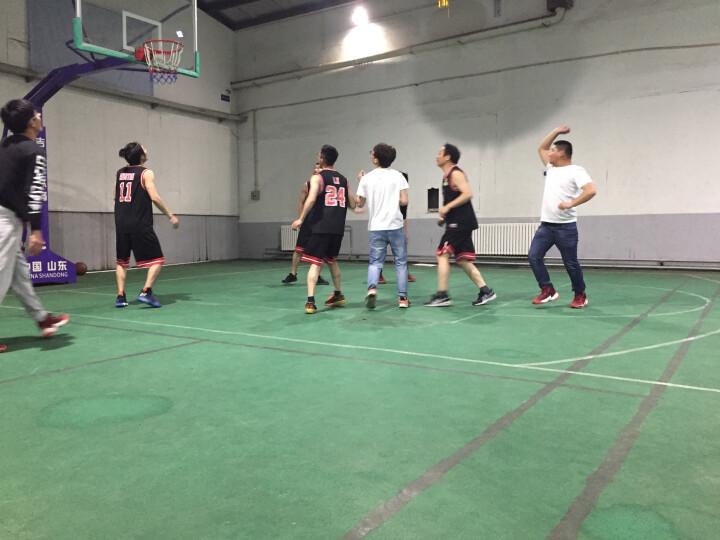 立腾 篮球服套装男 速干透气篮球运动背心 篮球球衣篮球队服定制印字印号 黑月亮-深紫 XL   适合  165-170CM 晒单图