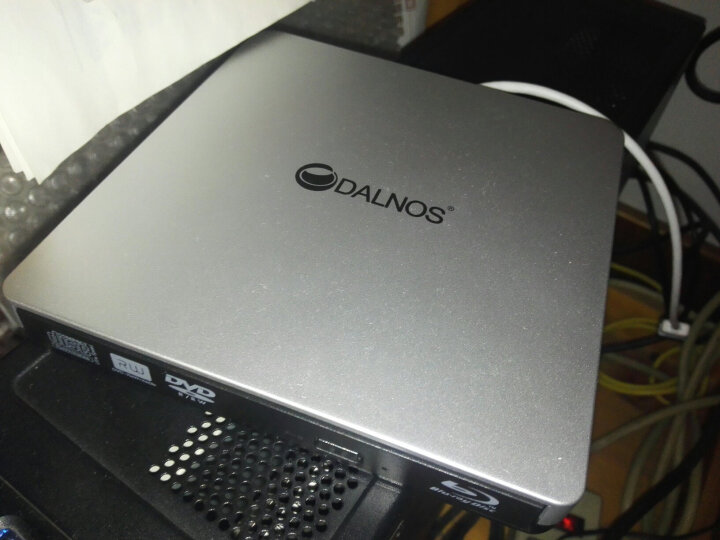 DALNOS 外置光驱DVD移动光驱 USB刻录机外接笔记本电脑MAC微软通用型(教学专供款) 银白色 蓝光DVD版 USB3.0  顺丰速递 晒单图