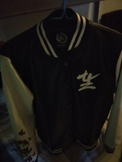 WOOKONG悟空棒球衣 秋冬季男士高品质皮夹克机车服 潮牌原创 XL(巨) 晒单图
