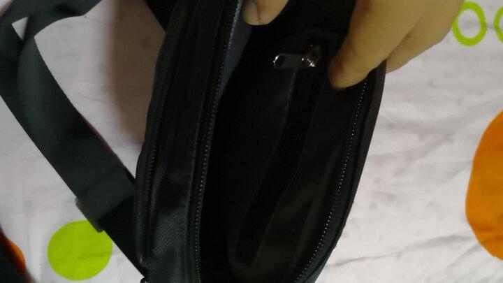 珍珠尼龙面料竖款时尚数码袋单肩斜跨休闲公文包 黑色 晒单图