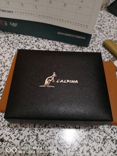 L'ALPINA阿尔皮纳 钱包男短款真皮薄潮多卡位钱夹休闲复古商务男士超薄零钱包 卡其色横款 晒单图