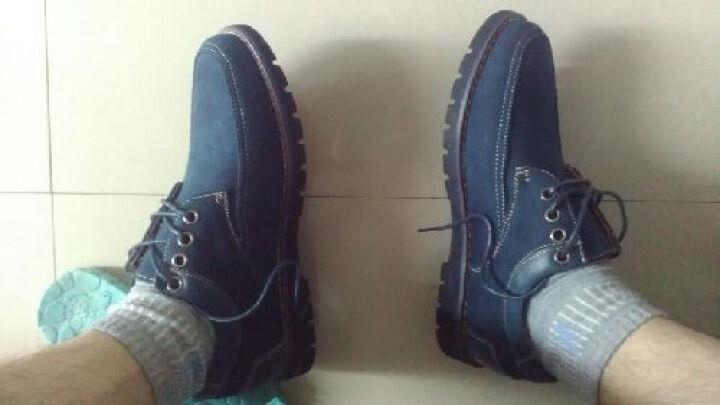 康龙男鞋子 时尚日常透气英伦风流行休闲鞋 蓝色253114307 38 晒单图