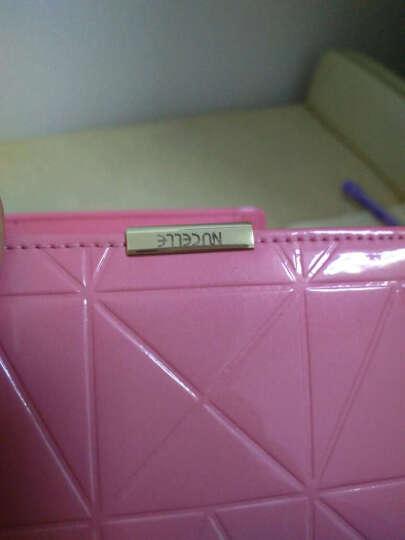纽芝兰新品牛皮女士钱包女短款 学生钱夹手拿包手包卡包 160 玫瑰粉 晒单图