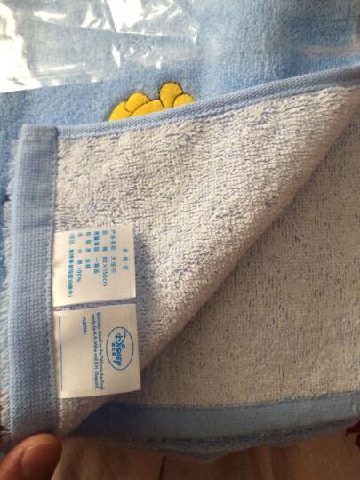 迪士尼Disney 儿童浴巾 维尼熊气球 纯棉 无捻纱 A类 可爱卡通 加厚吸水 大浴巾 B蓝色1条 80*150cm 晒单图