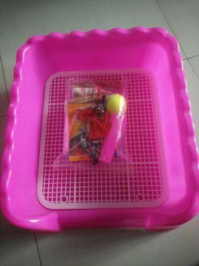 PETCIRCLE 狗狗厕所泰迪比熊小型犬铺垫式便盆塑料可拆洗 买大号送消毒液和尿片 粉色(大号带立柱) 晒单图