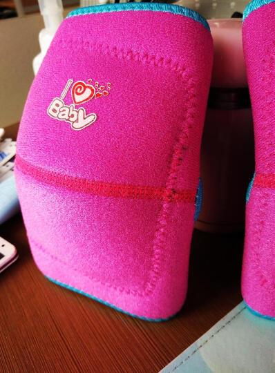 奥力克斯(AOLIKES) 儿童护膝运动 跳舞跪地滑冰骑行足球防摔撞护具舞蹈爬行护腿 玫红灰边一副 S适合腿围23-32厘米(约2-6岁) 晒单图