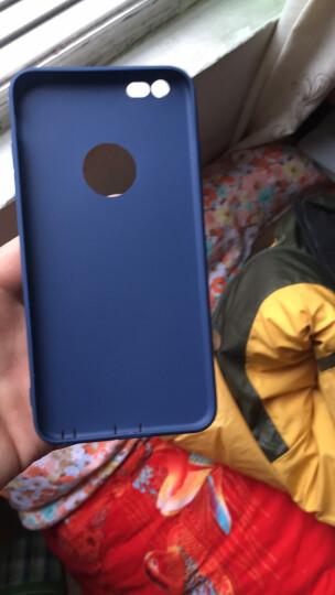 摩斯维 苹果6s手机壳iPhone6/6S Plus保护套硅胶气囊防摔透明男女超薄款全包磨砂软壳个性 plus 5.5英寸-宝墨蓝 晒单图