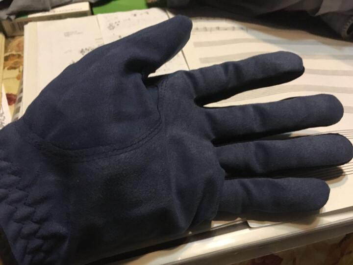 18TEE 高尔夫球手套 男士 深蓝色 夏季防滑透气布手套 26码 晒单图
