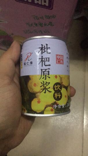 四川仁寿特产 福仁缘 枇杷原浆饮料 果蔬汁 枇杷果汁 245ml*6听 整箱装 晒单图
