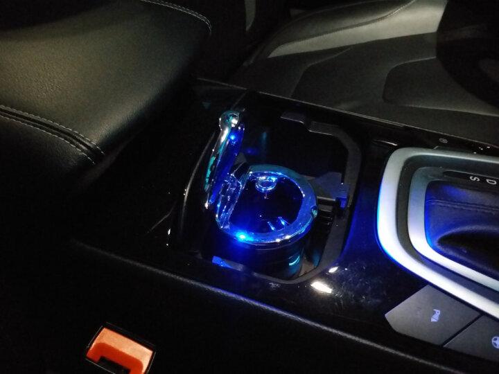 車格仕 车载烟灰缸带盖led灯 汽车用品创意通用车内杂物盒 黑色 福特金牛座 全新锐界 晒单图