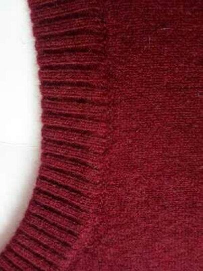 卡丹路羊毛羊绒衫旗舰店品牌男装 纯羊绒圆领针织衫男 男衫春秋新款青年男式毛衣 红色 54(185/XXL) 体重175-185 晒单图