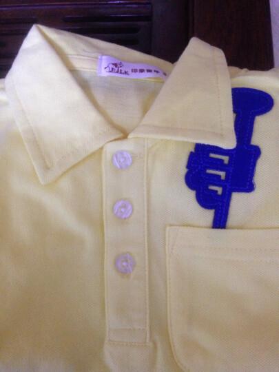 印象童年童装新款男童短袖上衣IK品牌儿童Polo衫宝宝休闲夏装 黄色 90建议身高80cm-88cm左右 晒单图