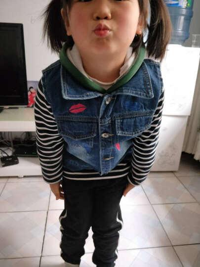 京颢(JINGHAO) 京颢秋装春秋新款女童牛仔马甲儿童牛仔背心外套童装女 蓝色 130 晒单图