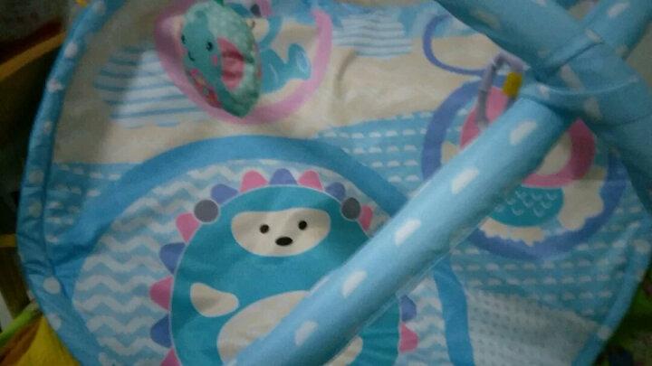 北国e家(The North E home) 婴儿健身架脚踏钢琴音乐遥控游戏毯儿童电子琴 麦克风飞机充电版(王子蓝) 晒单图