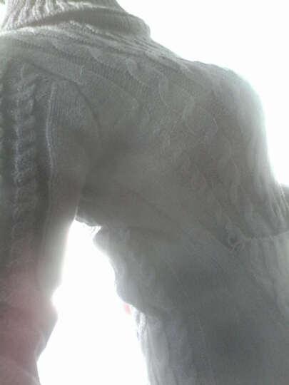 衣国梦2018冬装新款女装韩版修身高领长袖针织连衣裙毛衣裙子 黑色 均码 晒单图