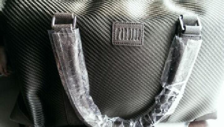 派保爵pabojoe旅行包男女通用大容量手提包席纹防水帆布手提行李包袋男包59001A 咖色 晒单图