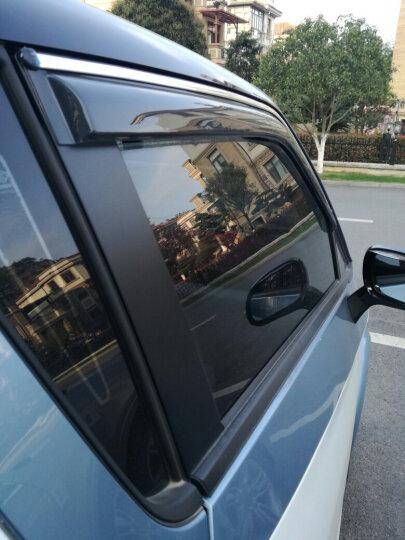 D1 众泰E200芝麻E30晴雨挡 云100纯电动车知豆(ZD)D1/D2车窗雨眉饰条遮雨板改装专用 车窗晴雨挡(带亮条) 知豆D2(车窗2片) 晒单图