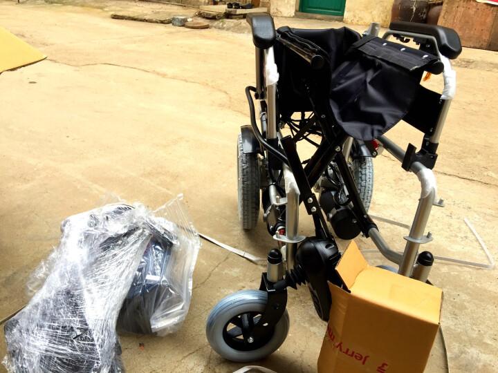 吉芮 电动轮椅车老年人残疾人家用医用可折叠轻便老人代步车铅酸电池可选坐便器老人推车可座自动轮椅 JRWD601+20A+进口电机 晒单图